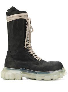 Rick Owens высокие ботинки на шнуровке