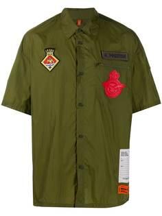 Heron Preston рубашка с короткими рукавами и логотипом