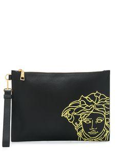 Versace клатч с вышивкой Medusa