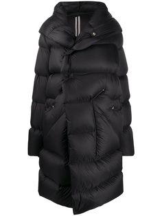 Rick Owens стеганое пальто Performa