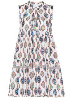 Chloé ярусное платье мини с принтом