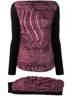 Jean Paul Gaultier Pre-Owned комплект из юбки и джемпера 2000-х годов с узором