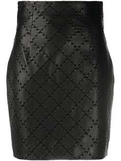 Balmain юбка с декоративной строчкой