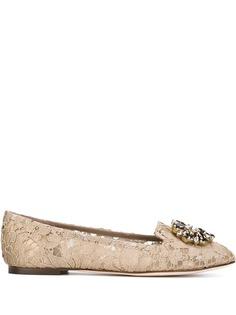 Dolce & Gabbana декорированные слиперы Vally