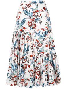 Erdem юбка миди с цветочным принтом