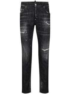 Dsquared2 зауженные джинсы с эффектом потертости