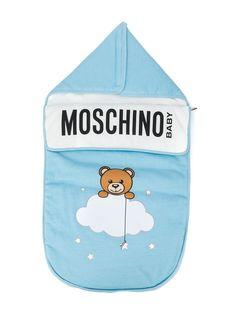 Moschino Kids спальный конверт с принтом