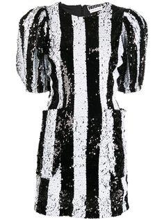 ROTATE коктейльное платье в полоску с пайетками