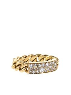 Christian Dior золотое кольцо Gourmette с бриллиантами