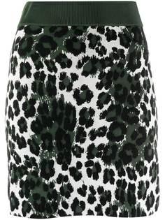 Kenzo трикотажная юбка с леопардовым принтом
