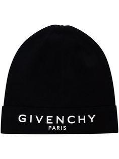 Givenchy шапка бини Paris с вышитым логотипом