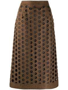Maison Margiela юбка миди с вырезами