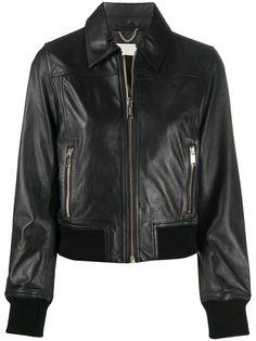 Michael Michael Kors байкерская куртка с отделкой в рубчик