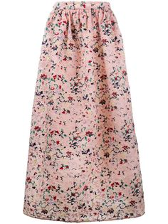 Huishan Zhang плиссированная юбка с цветочной вышивкой