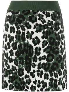 Kenzo юбка с леопардовым принтом