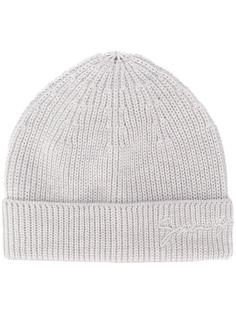 Givenchy шапка бини в рубчик с вышитым логотипом