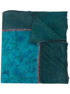 Avant Toi шарф с бахромой и принтом