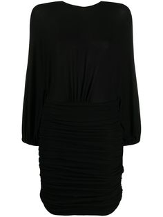 Alexandre Vauthier коктейльное платье из джерси со сборками