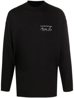 Martine Rose футболка с длинными рукавами и логотипом