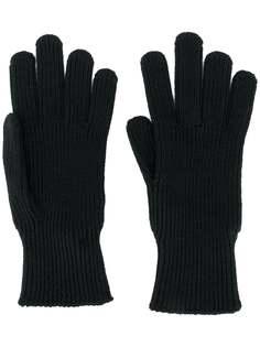 Moncler вязаные перчатки с нашивкой-логотипом