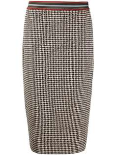Luisa Cerano юбка в ломаную клетку с завышенной талией