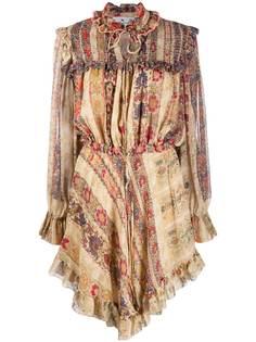 Etro платье с оборками и цветочным принтом