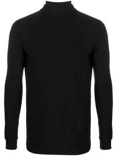 Raf Simons футболка с длинными рукавами и высоким воротником