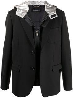 Dolce & Gabbana пиджак со съемным капюшоном