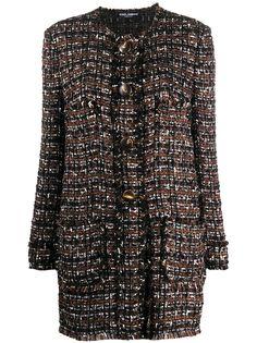 Dolce & Gabbana твидовое однобортное пальто