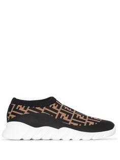 Fendi кроссовки-носки с логотипом FF