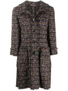 Dolce & Gabbana твидовое пальто миди