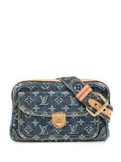 Louis Vuitton джинсовая поясная сумка 2007-го года с монограммой
