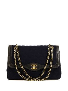 Chanel Pre-Owned стеганая сумка на плечо pre-owned