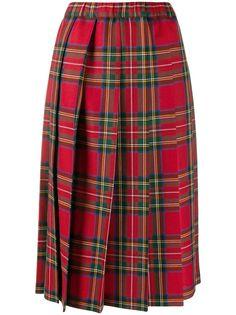 Comme Des Garçons Girl плиссированная юбка в клетку тартан