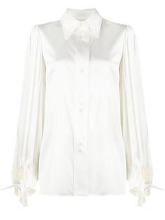 Ellery атласная рубашка с длинными рукавами