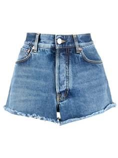 Givenchy джинсовые шорты с бахромой