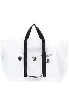 Off-White сумка-тоут с логотипом