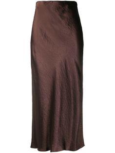 Vince атласная юбка миди