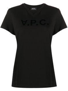 A.P.C. футболка с короткими рукавами и логотипом