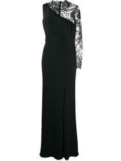 Alexander McQueen вечернее платье с одним рукавом