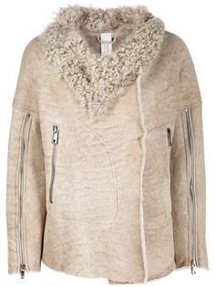 Giorgio Brato пальто с оторочкой из овчины