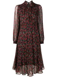 Pinko платье с цветочным принтом и бантом
