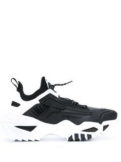 Emporio Armani массивные кроссовки на шнуровке