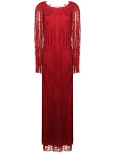 Alberta Ferretti вечернее платье с бахромой