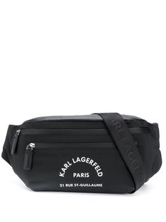 Karl Lagerfeld поясная сумка с логотипом