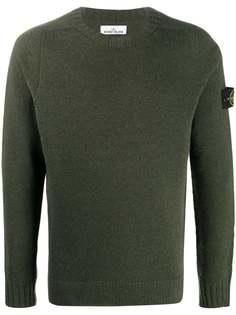 Stone Island свитер с нашивкой-логотипом