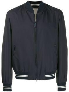 Brioni куртка-бомбер с контрастной отделкой