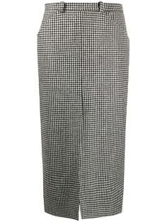 Roseanna юбка-карандаш в клетку гингем