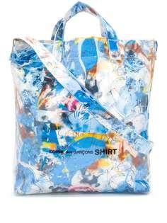 Comme Des Garçons Shirt сумка-тоут с абстрактным принтом