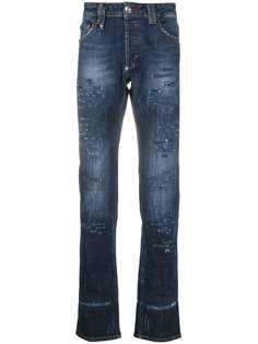 Philipp Plein прямые джинсы с декором Skull